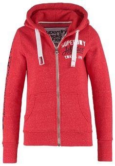 Superdry TRACK & FIELD Sweatjacke cherry red snowy Bekleidung bei Zalando.de | Material Oberstoff: 52% Baumwolle, 35% Polyester, 13% Viskose | Bekleidung jetzt versandkostenfrei bei Zalando.de bestellen!