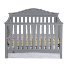 Graco Harbor Lights 4-in-1 Convertible Crib Finish: Pebble Grey