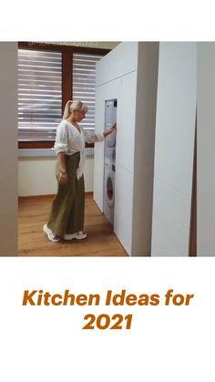 Small House Interior Design, Small Room Design, Kitchen Room Design, Room Design Bedroom, Home Room Design, Kitchen Cabinet Design, Modern Kitchen Design, Home Decor Kitchen, Interior Design Kitchen