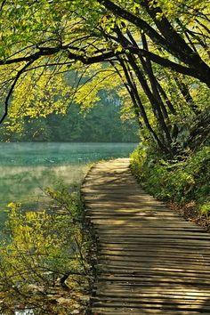 Path, Plitvice Lakes National Park, Croatia