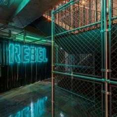 Studio C102 designs underground 1Rebel gym to look like a nightclub