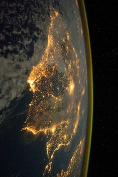 Barcelona, Spain by (NASA) Space #earth #planet #space #europe #spain