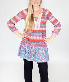 Look at this #zulilyfind! Purple Geometric Lola Dress #zulilyfinds