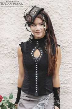 Hey, I found this really awesome Etsy listing at https://www.etsy.com/listing/151673594/black-steampunk-blouse-burlesque-steam