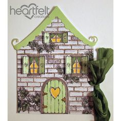 Heartfelt Creations - Cottage Shaped Gift Tag Project