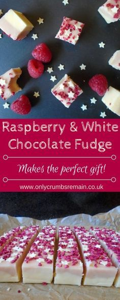 BOSCH ARTISTE Homemade Raspberry and White Chocolate Fudge, with its pretty colour contrast and classic flavour combo, is perfect as a gift for loved ones or offered as party nibbles. Fudge Recipes, Candy Recipes, Sweet Recipes, Dessert Recipes, Homemade Food Gifts, Homemade Fudge, Diy Food, Homemade Marshmallows, Edible Gifts