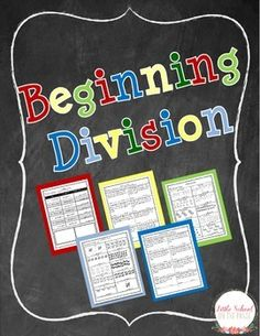 Looking for a way to introduce division to your students? This is a great unit for starting your unit on division! It covers the basic division facts of dividing by 2,3,4, and 5. Each set of facts is introduced by using manipulatives before moving on to the division problems.