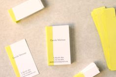 dip dye business cards, use thick cotton paper