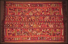 Indonesian Multicolored Chainstitched Panel : Lot 134-5007 #indonesian