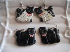 Black Cat Earrings  Whimsical and Sweet and Cute  by RosieandZoe, $20.00