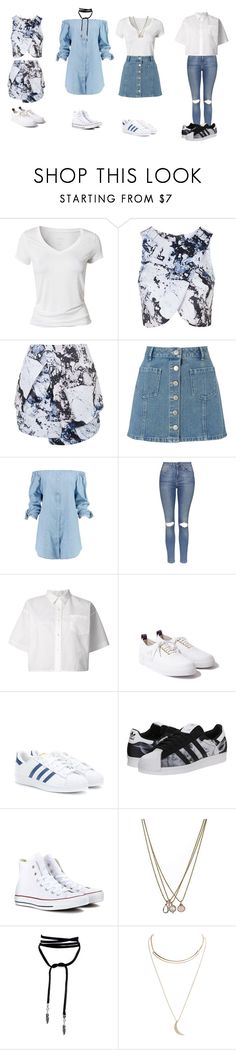 """""""LNF: DNA (unplugged)"""" by simpsonizer0718 ❤ liked on Polyvore featuring Calvin Klein, Topshop, Miss Selfridge, Boohoo, Sacai, Eytys, adidas Originals, Converse, Lionette and Wet Seal"""