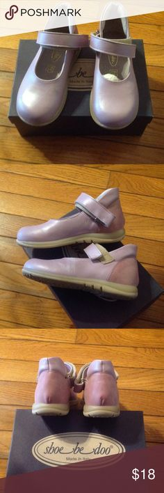 Girls Toddler Dress Shoes Brand new in box.  Made in Italy.  Leather uppers and rubber soles.  Velcro closure for easy on and off.  Light Mauve.  Please see pics and ask questions. Shoe Be Doo Shoes Dress Shoes