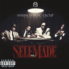 MMG Presents: Self Made, Vol.1:   Maybach Music Group (MMG) is a label imprint founded by best-selling hip-hop artist and entrepreneur Rick Ross. Maybach Music Group's roster currently includes rappers Wale, Meek Mill & Pill who have all become part of the Warner Bros. Records roster. On May 23rd, 2011 Maybach Music Group will release the compilation album Self Made/i which features all of its artists as well as guest appearances from others.