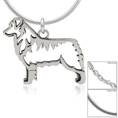 Australian Shepherd Sterling Necklace at The Animal Rescue Site