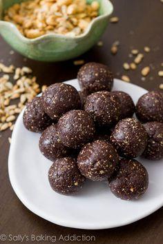 Chocolate Truffle Energy Bites by sallysbakingaddiction.com