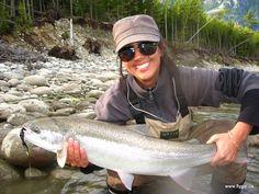 Reel Sexy Fishin ♥ ;) Dean River, BC - Dana