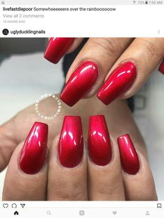 N A AmberManicure IdeasNail Ideas Red Chrome