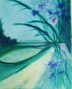 VIOLET LANDSCAPE  by Aase Lind Sold this week.  See more paintngs: #www.aaselind com #www.aaselind.com