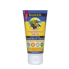 Badger - SPF 35 Zinc Oxide Sport Sunscreen Cream - Unscented - Broad Spectrum Water Resistant Reef Safe Sunscreen, Natural Mineral Sunscreen with Organic Ingredients fl oz Sport Sunscreen, All Natural Sunscreen, Natural Skin Care, Natural Beauty, Badger Balm, Best Sunscreens, Face Skin Care, The Balm