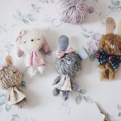 We are family 💕 Crochet For Kids, Crochet Toys, Pet Toys, Baby Toys, Fabric Brooch, Teddy Toys, Tiny Dolls, Brooches Handmade, Amigurumi Toys
