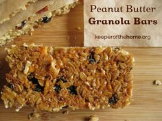 Perfect Peanut Butter Granola Bars