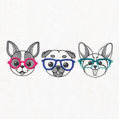 Waggin' Good Time Trio | Urban Threads: Unique and Awesome Embroidery Designs