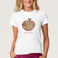 Preschool Teacher - Giraffe Print Apple T Shirt, Hoodie Sweatshirt