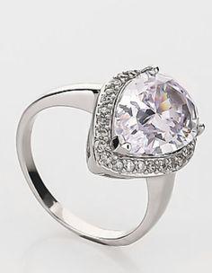 Diamantea anello solitario goccia 118797 - Hse24.it