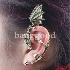 Cheap clip earring backs, Buy Quality clip belt directly from China clip line Suppliers: Retro Vintage Gothic Rock Punk Gold Silver Dragon Ear Cuff Earring Wrap Clip On Earrings Clip Clamp Gothic Rock, Gothic Metal, Cuff Earrings, Clip On Earrings, Cuff Jewelry, Hanging Earrings, Unique Earrings, Etsy Jewelry, Silver Earrings