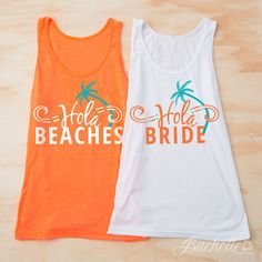 Neon Beachy Bachelorette Party Shirts