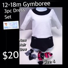 12-18m Gymboree Gorgeous Baby Girl Accessorized with Size 4 Shoes.  ALL in Excellent Condition