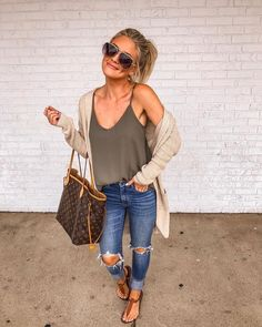 49 Cool autumn outfits that always look fantastic for women - Outfit ideen - Modetrends Casual Summer Outfits, Fall Outfits, Cute Outfits, Casual Winter, Summer Outfit With Jeans, Girls Weekend Outfits, Summer Outfits For Moms, Casual Outfits For Moms, Crazy Outfits