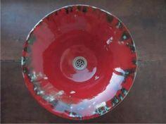 bacha cónica de apoyo, cerámica esmaltada