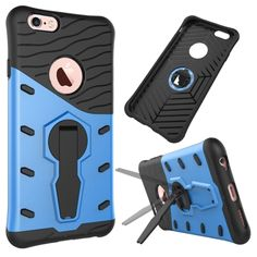 [$2.27] For iPhone 6 & 6s Shock-Resistant 360 Degree Spin Tough Armor TPU+PC…
