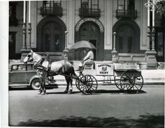 A delivery man for Saratoga Vichy Water makes the rounds in front of the Grand Union Hotel on Broadway on May (Courtesy of Saratoga Springs Historical Museum, George S. Saratoga Springs New York, Clifton Park, Old Images, Old Postcards, Grand Hotel, Best Memories, Victorian Era, Historical Photos, Delivery Man