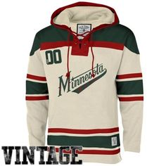 Men's Minnesota Wild Old Time Hockey Stone Home Lace Heavyweight Hoodie