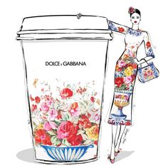 "673 Likes, 19 Comments - Megan Hess (@meganhess_official) on Instagram: ""For today's coffee I'm dreaming of a rich Italian blend of DOLCE & GABBANA! Of all their incredible…"""