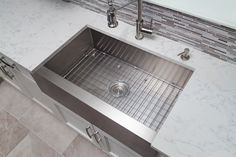 Custom fit for your Mirabelle sink, instantly create a workstation that cushions fragile dishes for quick and easy sink tasks. The chrome plated stainless steel basin rack offers protective bumpers and feet to ensure the long-lasting beauty of your sink while the rinse basket's fluid design lines enable ease of cleaning.