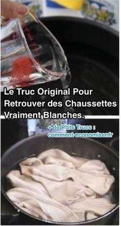 Le Truc Original Pour Retrouver des Chaussettes Vraiment Blanches.