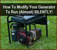 Make your generator run quiet