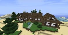 Minecraft Beach House | Creative Commons Attribution-Noncommercial-Share Alike 3.0 License .