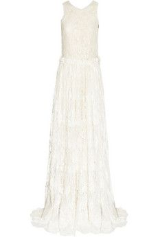 LANVIN  Tulle-trimmed lace gown  £3,832.58