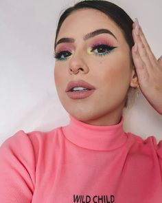 - Best ideas for decoration and makeup - Makeup Eye Looks, Crazy Makeup, Cute Makeup, Glam Makeup, Makeup Art, Makeup Inspo, Makeup Inspiration, Hair Makeup, Eyeshadow Makeup