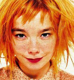 Bjork: Bjork goes orange.