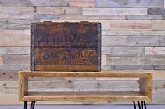 Vintage Clinton Brewing Co Crate Clinton Iowa by ScoutandForge