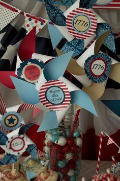 1776 Collection: Large Pinwheels