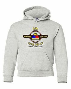 """8TH ARMORED DIVISION """"IRON SNAKE """" BATTLE & CAMPAIGN HOODIE W/POCKETS"""