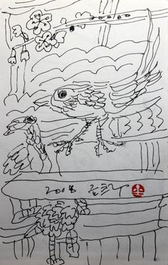 https://www.facebook.com/sahong.gum Gum-Sahong Drawing,Folk 금사홍,드로잉,민화