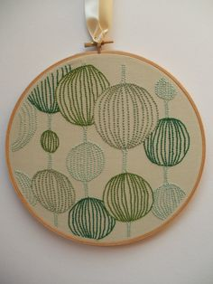 Embroidery hoop by OliveSeaTextiles on Etsy