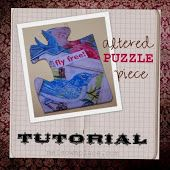 """Mel's Own Place: Altered PUZZLE Piece Tutorial.  Well, I didn't find the tutorial, but it does look like using puzzle pieces to make """"altered art"""" is sure a possibility!"""